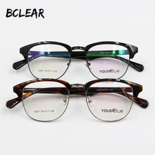 cb76c165f4d BCLEAR Vintage classic retro round eyebrow frame eyeglasses spectacles can  do myopia