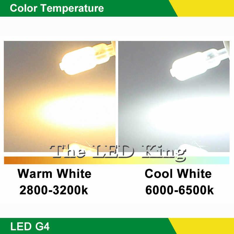 10 قطعة التيار المتناوب/تيار مستمر 12 فولت 3 واط 6 واط 2835 SMD G4 G9 LED لمبة ، ثنائية دبوس قاعدة ، 25 واط مصباح هالوجين يعادل Milkly غطاء شفاف دافئ كول الأبيض