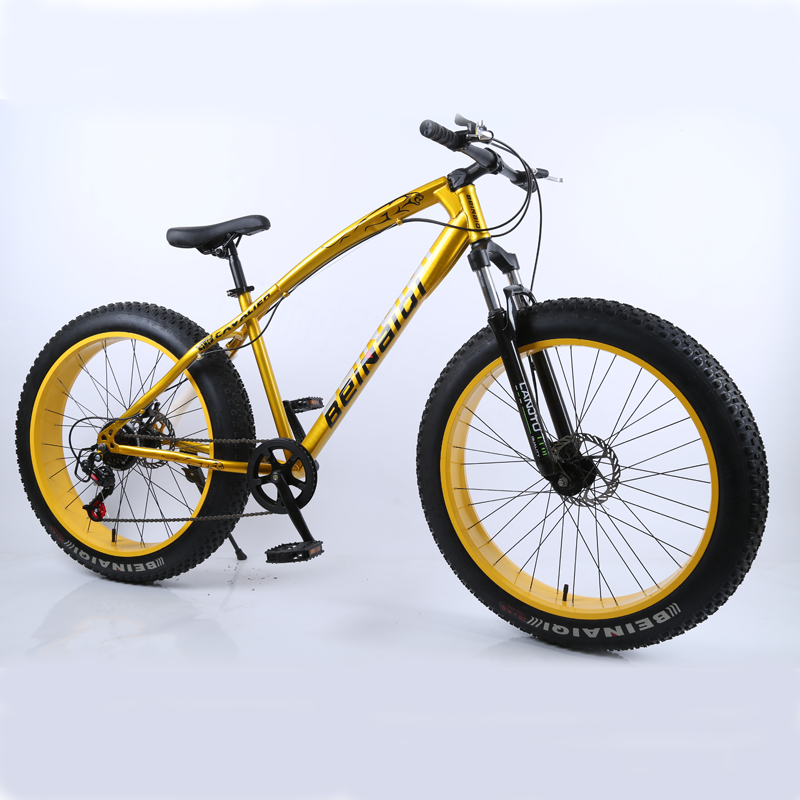 26inch Mountain Bike Big Tire 7-speed Mountain Bike Shock-absorbing Beach Bike 4.0 Extra Large Tire Variable Speed Snow Bicycle
