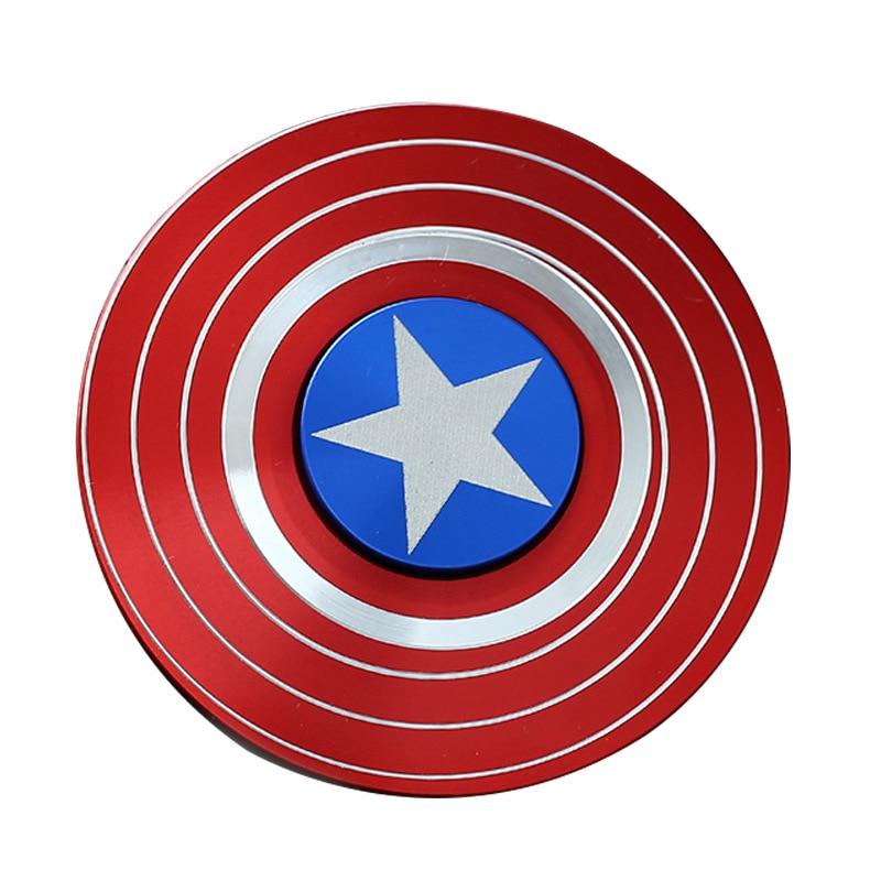 Captain America Metal Gifts Creative Gyro Toy Anti Stress