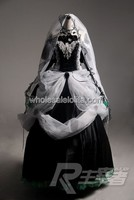 Free Shipping High end VOCALOID MIKU Cosplay Costume Gothic Dress / Cosplay Dress Up