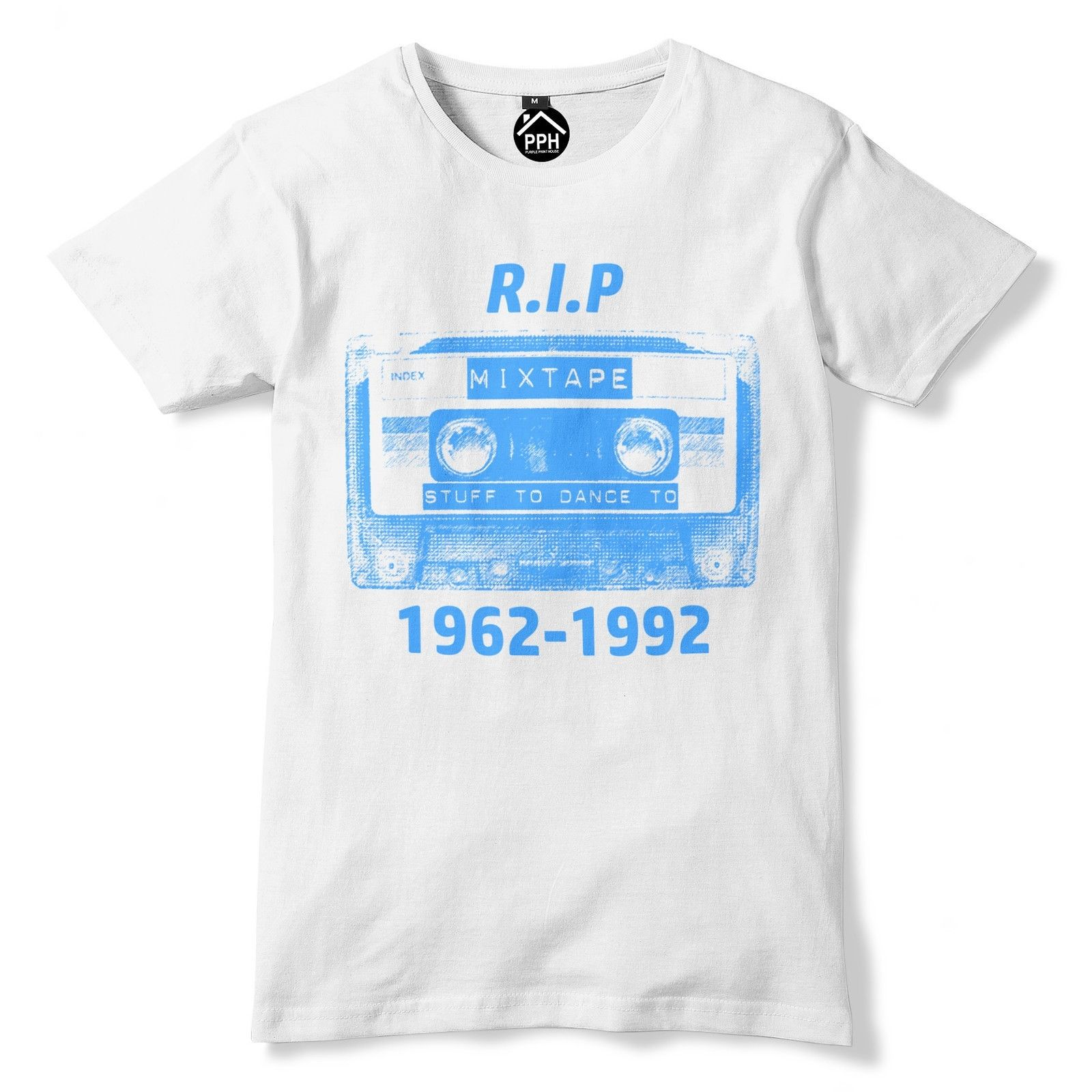 Plus Size Sleeve Tops Tshirt Homme Rip Cassette Tape T Shirt Old School 80S 90S Music Tshirt Top Disco Dance80S T Shirts image