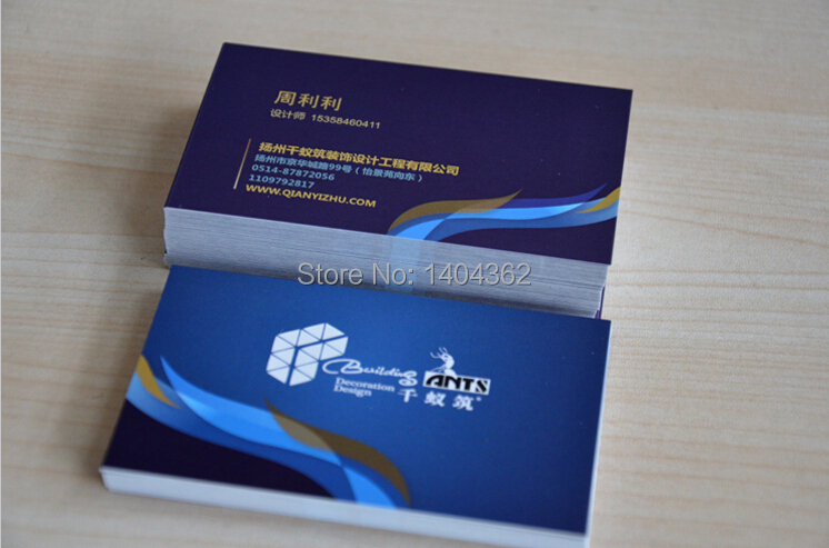 300gsm custom Coated paper matte laminated business cards printing business card visit card , accept color printing on two sided