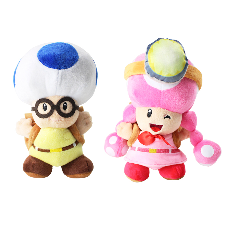 Super Mario Bros Plush Toy Toad Toadette Mushroom Miners Adventure Backpack Soft Stuffed Dolls stuffed toy