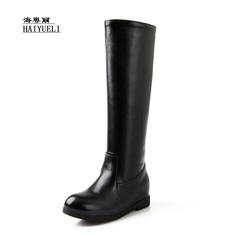 The New Knight Boots Fashion Autumn Winter Boots Knee-high Boots Flats Boots The New Knight Boots Fashion Autumn Winter Boots Knee-high Boots Flats Boots