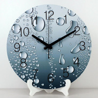 الجملة أزياء الجدول الزخرفية ساعة الحائط تزيين المنزل ساعة الطاولة ساعة ماء الوجه أكثر تماما ساعة أفضل هدية