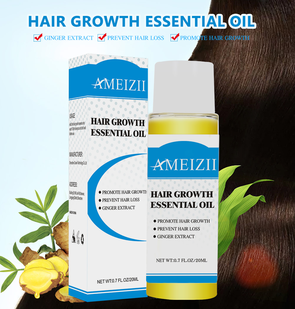 AMEIZII Hair Growth Essential Oil Essence Natural Hair Loss Liquid Hair Care Beauty Treatment Preventing Dense Hair Growth Serum 3
