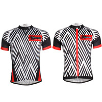 Black Stripe Pattern Bike Clothing Men Polyester Short Sleeve Riding Jersey Summer Breathable Cycling Apparel Size