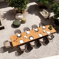 10x Garden Chairs and Ultra Length 280cm Dinner Table