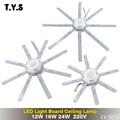 Lámpara de techo de luz LED de alta luminosidad lámpara de ahorro de energía 24 W 16 W 12 W 220 V placa PCB fuente de luz modificada Placa de bombilla LED pulpo