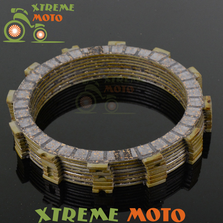 Clutch Plates Disc Set 8pcs For Honda CR250R CRF450R CRF450X CR500R Motocross Supermoto Enduro Motorcycle Dirt Bike Off Road cnc pivot brake clutch levers for honda crf250r crf450r 07 15 crf motocross enduro supermoto dirt bike racing offroad motorcycle