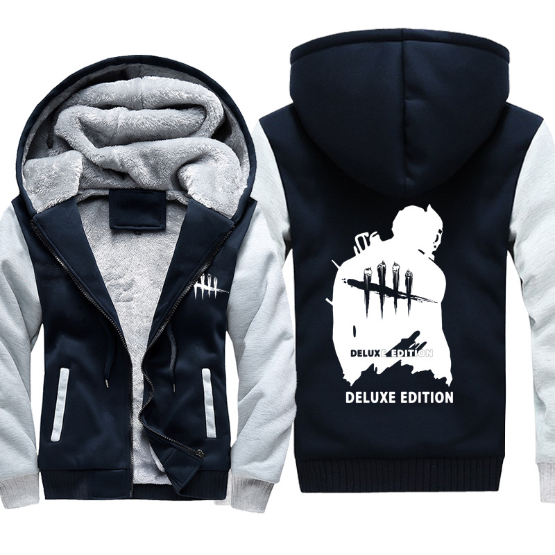 Game Dead by Daylight Hoodie Autumn Winter Warm Men Women Sweatshirts Casual Zipper Thicken Hooded Coat Hip Hop Jacket