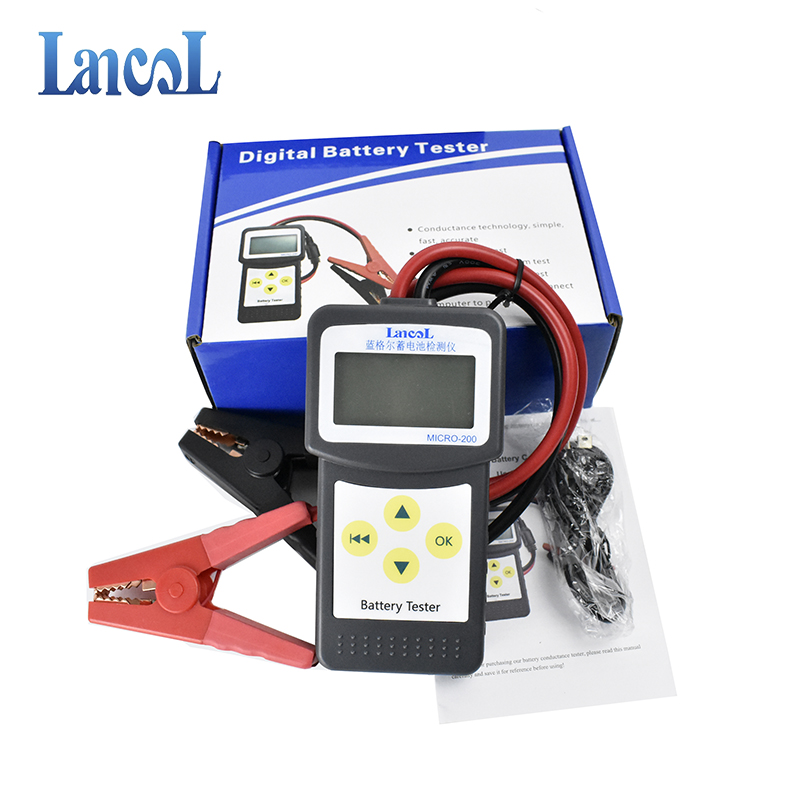 LANCOL 12V CCA Digital Car Battery Tester Checker Automotive Battery Load  Tester MICRO-200 with USB for Printing Multi-language
