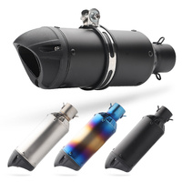 Universal 51MM Motorcycle Muffler Exhaust Pipe SC Project escape moto Stainless steel with DB killer For crf 230 gsr 600 cb190r