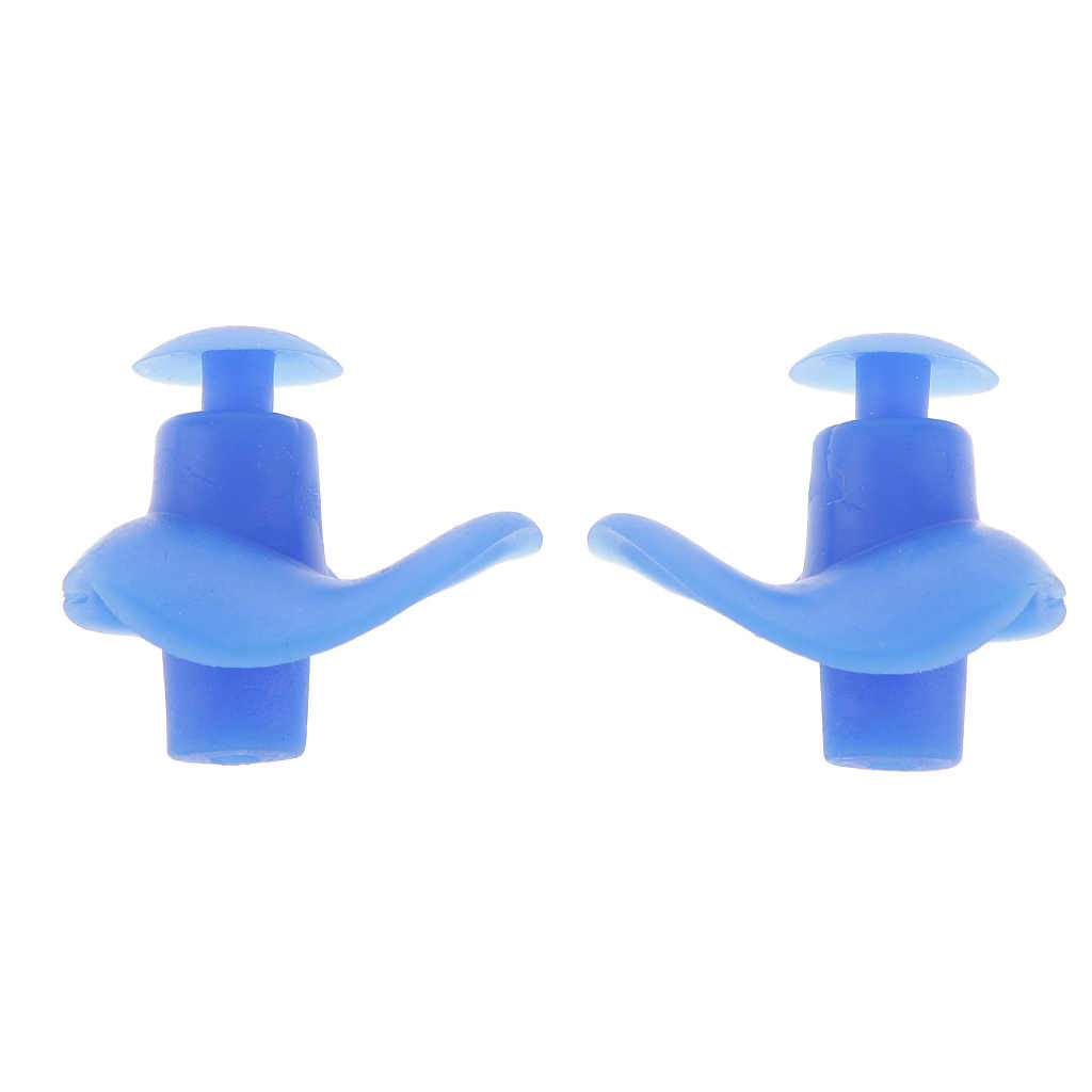 Yüzmek dalış 1 çift yumuşak silikon kulak tıkacı su geçirmez toz geçirmez spor yüzme kulak tıkaçları su sporları dalış aksesuarları