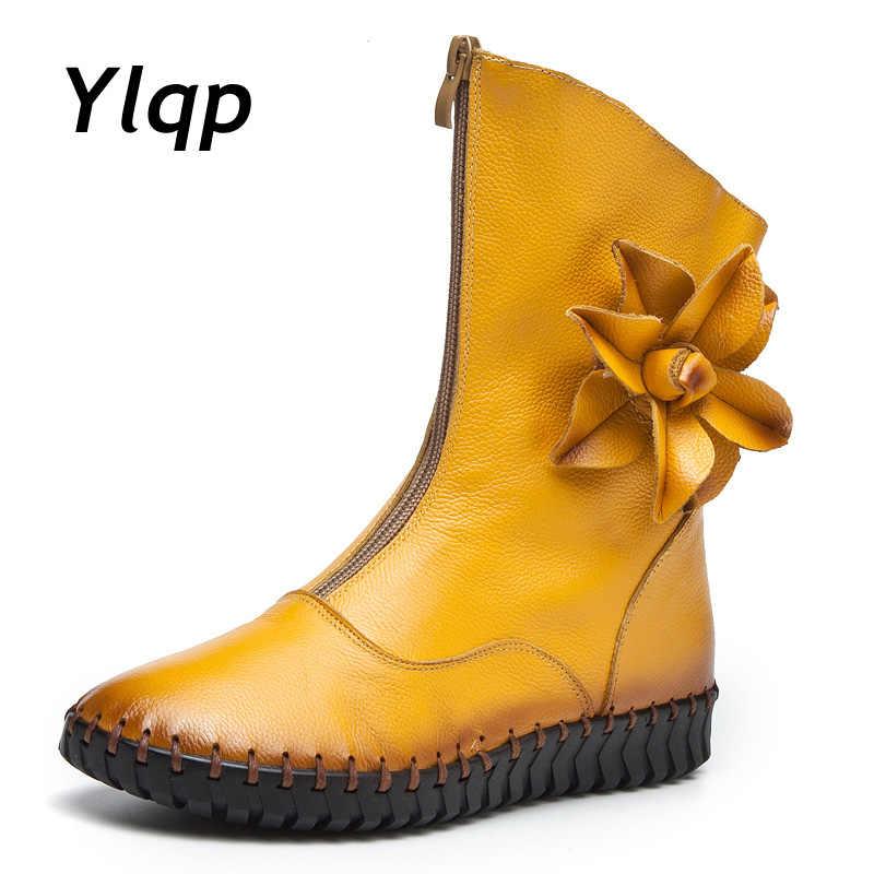 6b3b33712 Дизайнерская обувь, женские Роскошные зимние ботинки 2018, модные ботинки  martin на плоской подошве с