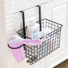 Multifunctional Bathroom Storage Basket Creative Hair Dryer Sundries Organizer Iron Rack Kitchen Door Cabinet Hanging Holders