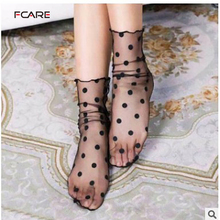 Fcare 10PCS=5pairsJapanese socks retro hollow lanterns piles heap socks