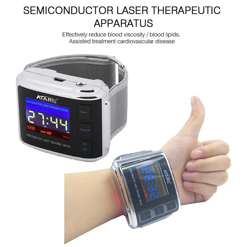 ATANG di Alta Pressione sanguigna Diabete Colesterolo Trattamento Rinite Trombosi Cerebrale Medical Devic Orologio Laser Terapia Acufeni