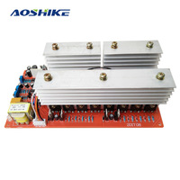 AOSHIKE Чистая синусоида Частота инверторный блок питания DC 24 в 36 в 48 в 60 в до 220 В Высокая Мощность 6000 Вт цепи основная модель инверторы