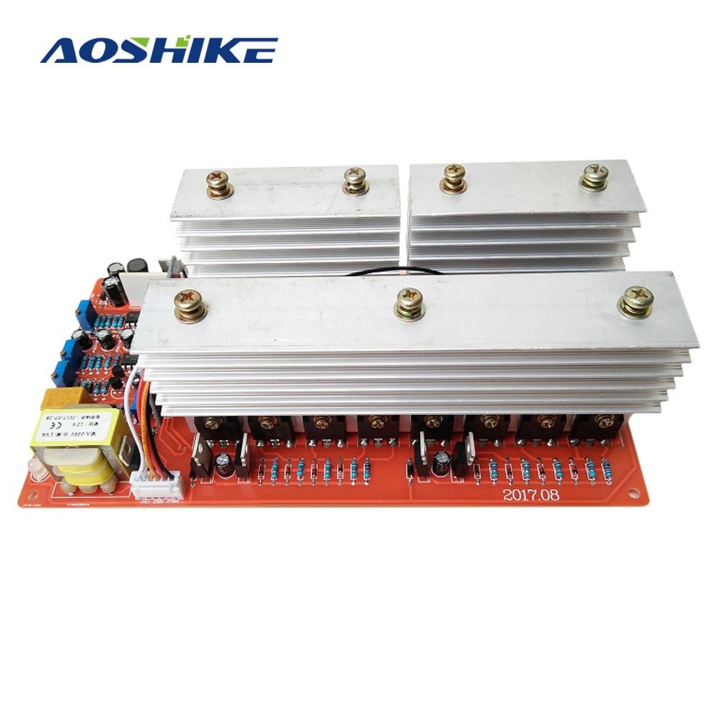 AOSHIKE pur onduleur à onde sinusoïdale carte d'alimentation DC 24 V 36 V 48 V 60 V à 220 V haute puissance 6000 W Circuit principal modèle onduleurs