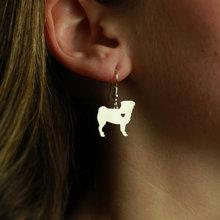 Мин 1 пара ювелирные изделия ручной работы серьги Мопс Собака шпильки серебро собака талисманы болтаются Шарм памятный день матери подарок для женщин влюбленных
