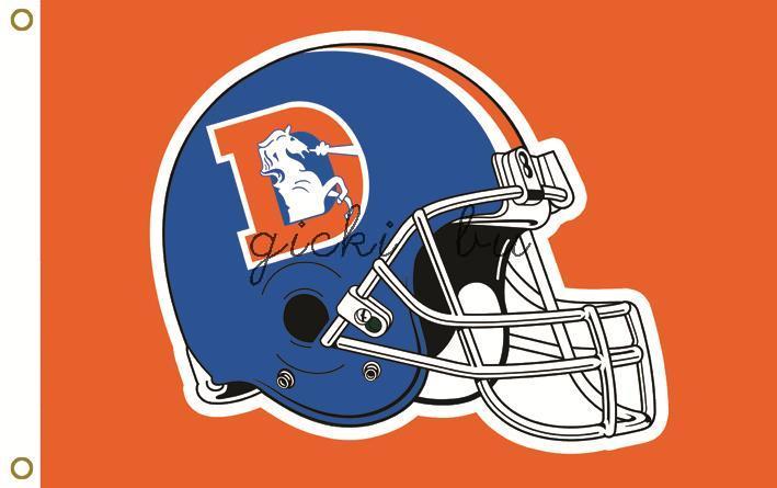 Denver broncos NFL flag football helmet flag 3 feet by 5 feet 100 d polyester free shipping