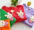2017 Hot & new Autumn Spring cotton cartoon cardigan boys girls cardigan children outwear kids rabbit baby sweater