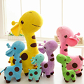 2017 new infant baby boys girls toy Lovely Giraffe Deer Soft Plush Toy children Animal Dolls Baby Kid Birthday Party Gift 1PIECE
