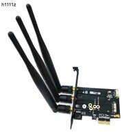 Antenas 802.11 + bluetooth 4.0 broadcom bcm943602cs bcm94360cs2 cartão wi-fi sem fio mini pci-e para pci-e 1x adaptador adaptador para pc wi-fi