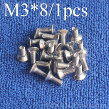 1 Pcs M3 * 8 שטוח ראש נירוסטה SS304 מכונת Countersunk בורג בורג אטב אלן מפתח ראש hex socket countersunk ראש(China)