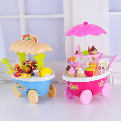 Pink Orange Ice Cream Candy Truck Creative Children Playhouse Kitchen Toys  Kids DIY Foods Props Kitchen Toys Sets Birthday Gifts In Kitchen Toys From  Toys ...