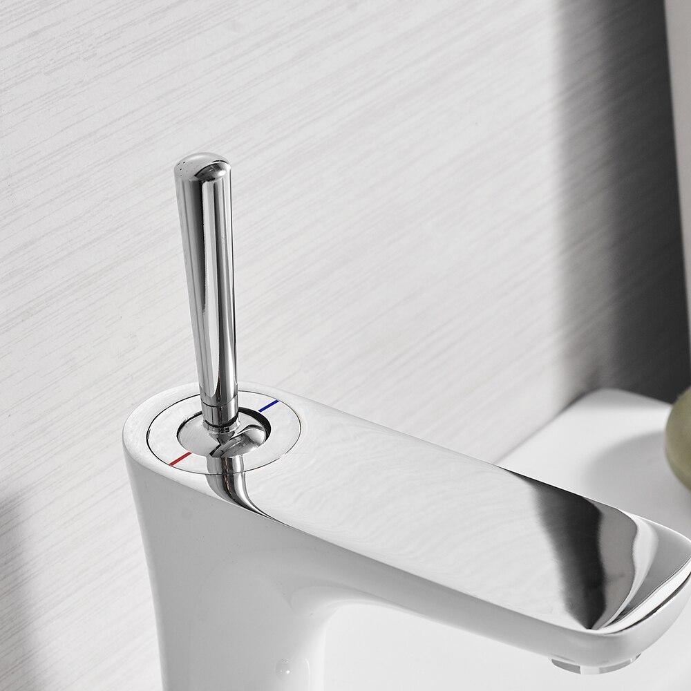 Water Mixer Bathroom Sink Faucet Basin Faucet Chrome Brass Faucet Water Faucet Basin Mixer Tap Deck Mount Torneira Tap 855007