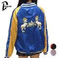 DayLook Autumn Harajuku Bomber Jacket Women Street Style Slip Jacket Embroidery Loose  Baseball Coat Souvenir Jacket Yokosuka