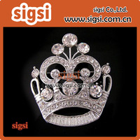 Fashion Diamante Wedding Party Pageant Tiara Crown Corsage Brooch Pin for Wedding Valentine's Day gift