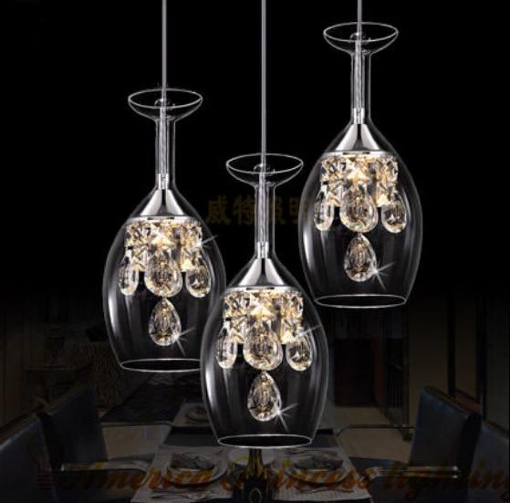 Fashion Glass Chandelier Living Room Restaurant Bar Led