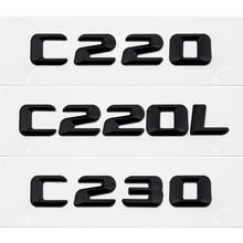 Discharge Capacity Refitting Letters Emblem Badge Car Sticker For Benz Logo for Mercedes C220 C220L C230 190E W201 W202 W203