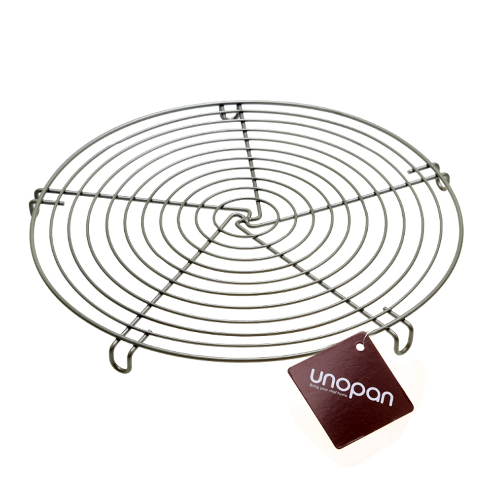 buy authentic carbon steel un28041 baking rack cake stand cake round cooling network rack cake bread biscuits pad bbq cooling tools from