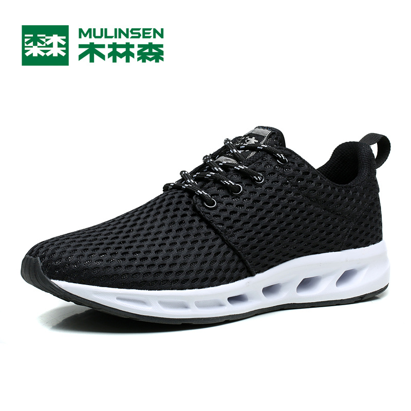 MULINSEN Breathe Shoes Men & Women Lover's lace-up Sport lite burst quick drying relax barefoot athletic Running Sneaker260047 2017 women hiking sneakers shose lace up low cut sport shoes breathable hiking shoes women athletic outdoor shoes quick drying