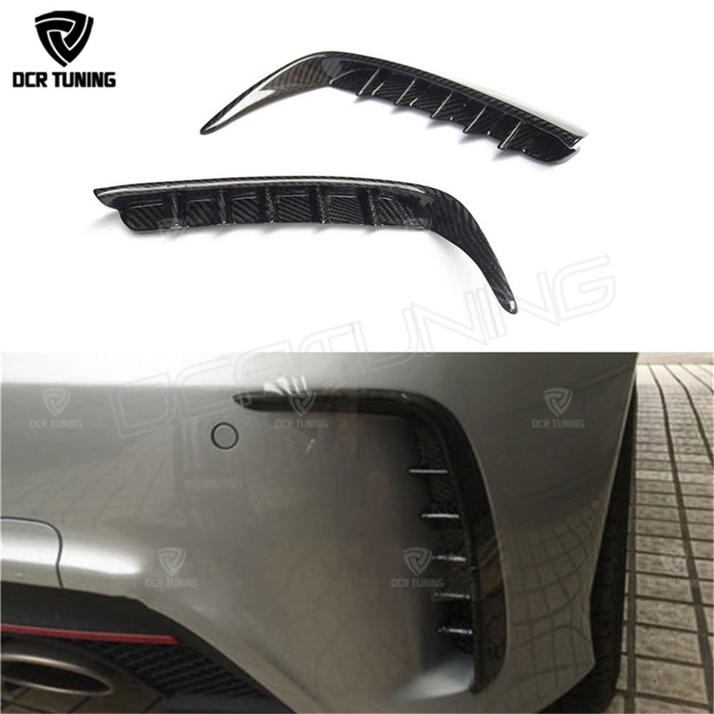 Carbon Fiber Rear Bumper Splitter Trim for Mercedes - Benz W176 A250 A260 A45 AMG 2012 - 2015 футболка armani jeans armani jeans ar411emovs83