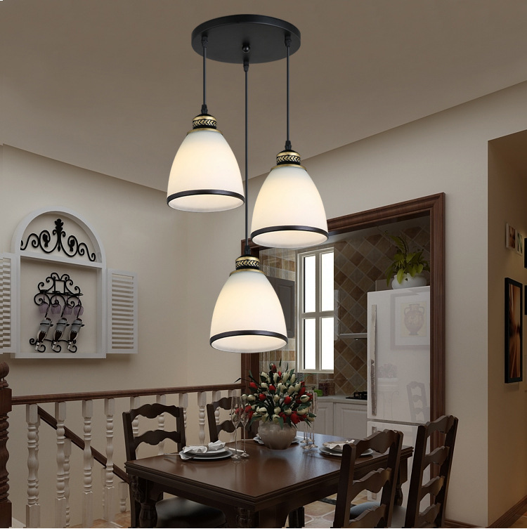 Modern Minimalist Set of 3 Kitchen Island Dining Room Glass Pendant Light (7)