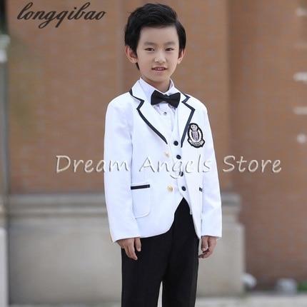 High Quality School Uniform New Fashion Baby Boys Kids Blazers Boy Suit For Weddings Prom Formal Gray Dress Wedding Boy Suits