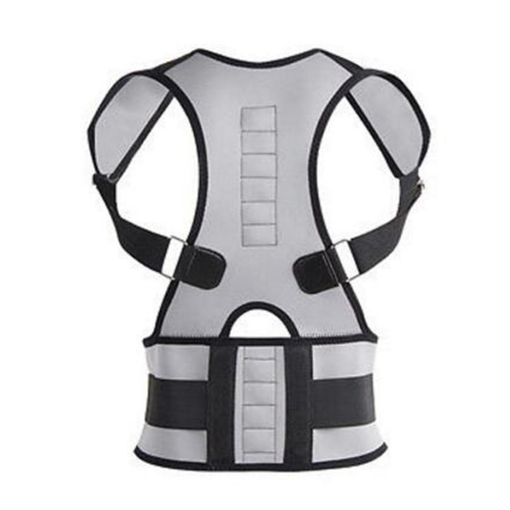 2018 New Men and Womens Adjustable Posture Corrector All-In-One Back Support Shoulder Lumbar Brace Belt Strap