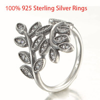 Engagement Leaf Wedding Rings For Women 925 Sterling Silver Jewelry Engagement Ring Fashion 925 Silver Women