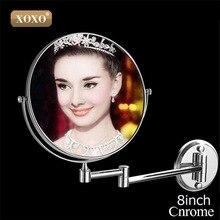 XOXO двойной Макияж зеркал 1:1 и 1:3 Лупа Медь косметический Ванная комната double faced Ванны зеркало настенное зеркало 1016/1018 /7018