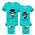 Мать наряды Симпатичные формальные hat шар Футболки Отец Мать дочь Сын Дочь Сопоставления Семьи Одежда короткие рубашки DC60