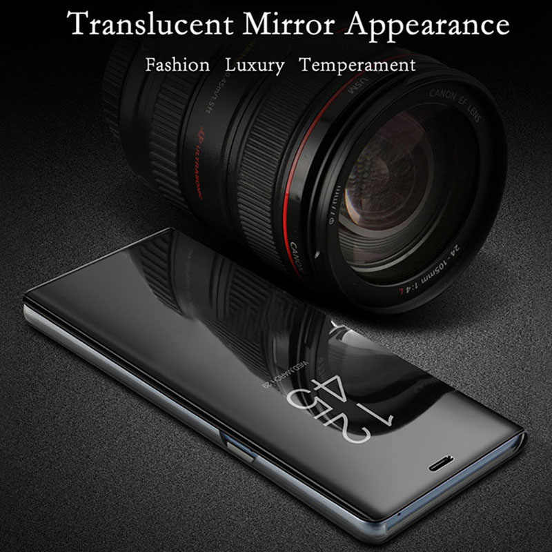 Умный зеркальный флип-чехол для телефона Huawei P20 Pro P8 P9 Lite 2017 чехол для Mate 10 20 Y6 Prime Y7 2018 Y9 2019 Nova 3 3i 3E