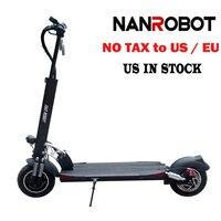 NanRobot D5 + электрический скутер для взрослых 10 ''складной легкий 2000 W 52 V 26AH Топ Скорость 40 миль/ч 40 км Диапазон 2 колеса kick