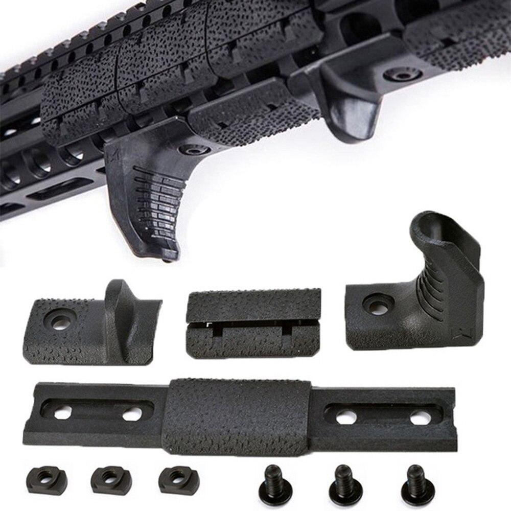 WADSN Airsoft Tactical M-LOK Hand Stop Kit For KeyMod M LOK Attachment System M-lok Handguard 4 Pcs/set Acessories MP02057