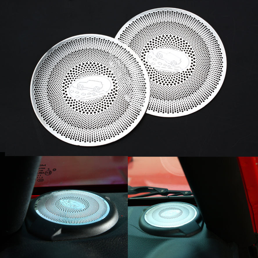 Car Styling Dashboard A Pillar Door Speaker Panel Cover Trim Interior Stainless Steel Car Accessories For Jeep Wrangler 2015 Up